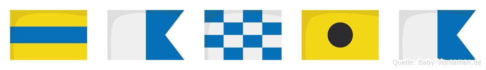 Dania im Flaggenalphabet