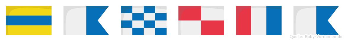 Danuta im Flaggenalphabet