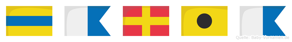 Daria im Flaggenalphabet