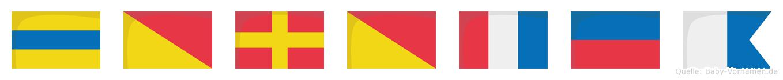 Dorotea im Flaggenalphabet