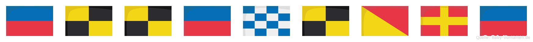 Ellenlore im Flaggenalphabet