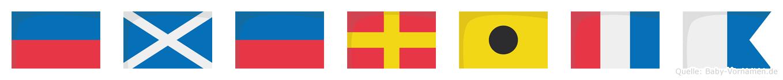 Emerita im Flaggenalphabet