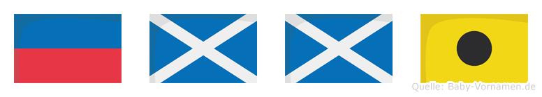 Emmi im Flaggenalphabet