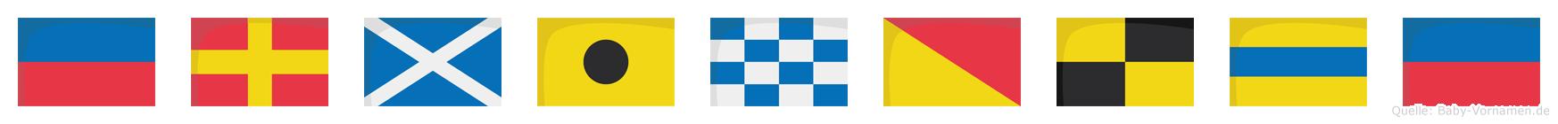 Erminolde im Flaggenalphabet