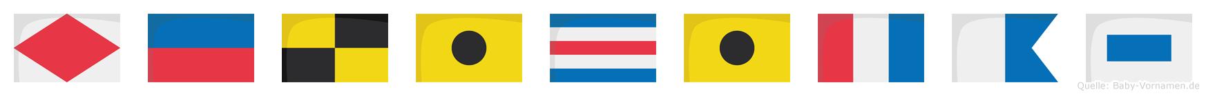 Felicitas im Flaggenalphabet