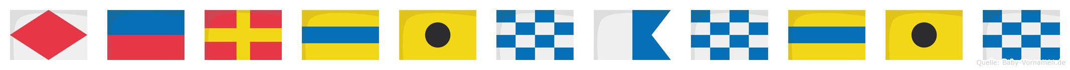 Ferdinandin im Flaggenalphabet