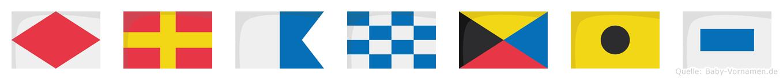Franzis im Flaggenalphabet