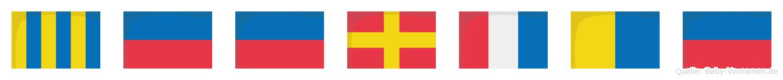 Geertke im Flaggenalphabet