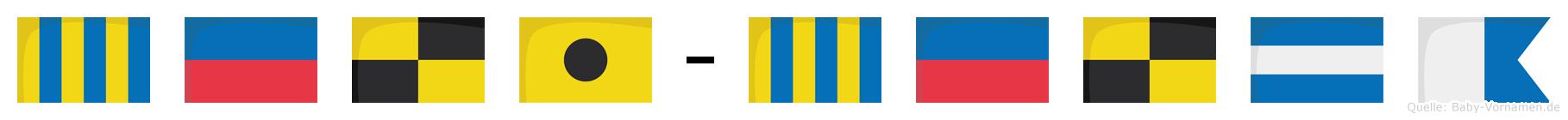 Geli-Gelja im Flaggenalphabet