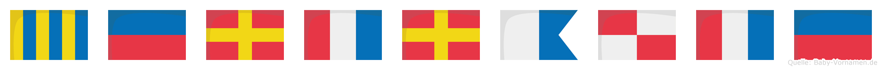 Gertraute im Flaggenalphabet
