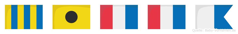 Gitta im Flaggenalphabet