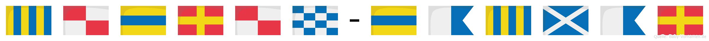 Gudrun-Dagmar im Flaggenalphabet