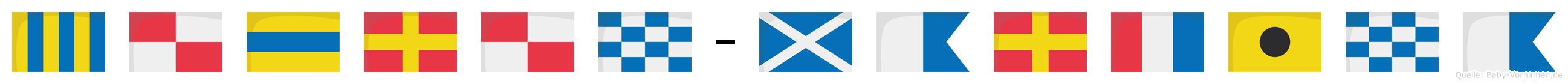 Gudrun-Martina im Flaggenalphabet