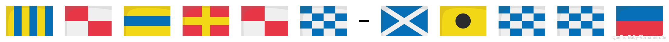 Gudrun-Minne im Flaggenalphabet
