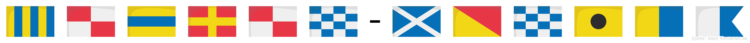 Gudrun-Monika im Flaggenalphabet