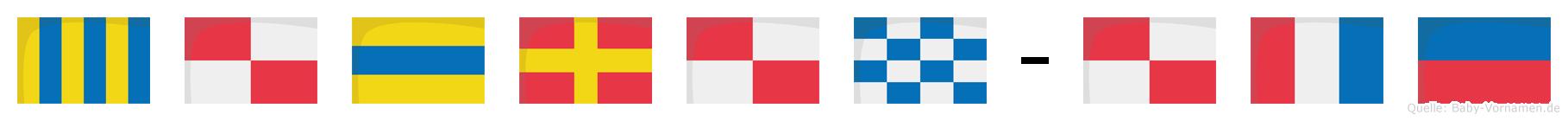 Gudrun-Ute im Flaggenalphabet