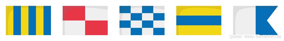 Gunda im Flaggenalphabet