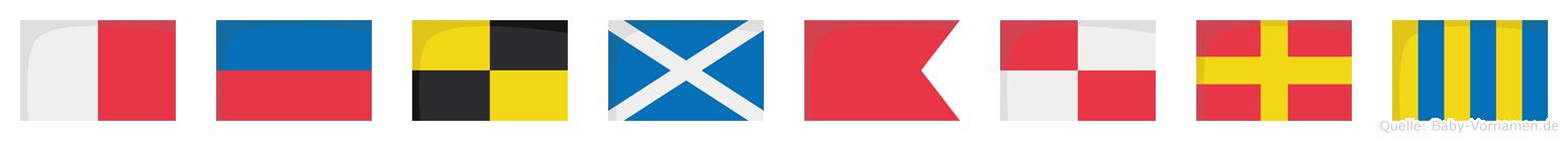 Helmburg im Flaggenalphabet