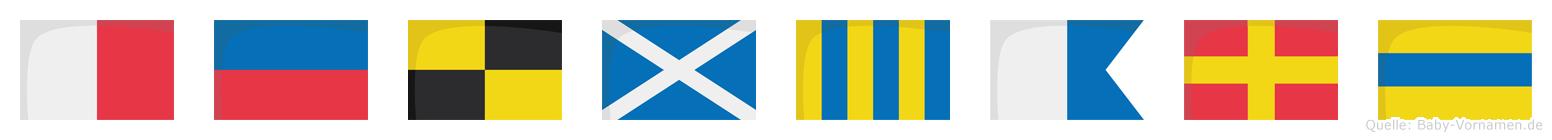 Helmgard im Flaggenalphabet