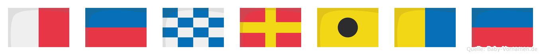 Henrike im Flaggenalphabet