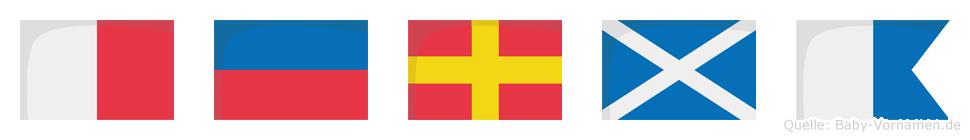Herma im Flaggenalphabet