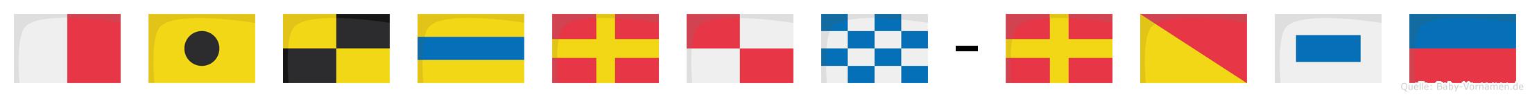 Hildrun-Rose im Flaggenalphabet