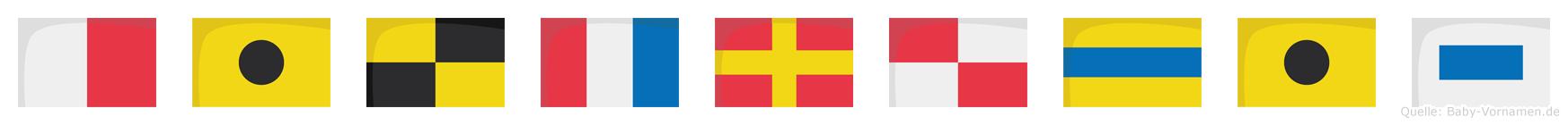 Hiltrudis im Flaggenalphabet