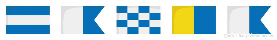 Janka im Flaggenalphabet