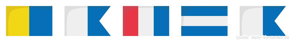 Katja im Flaggenalphabet