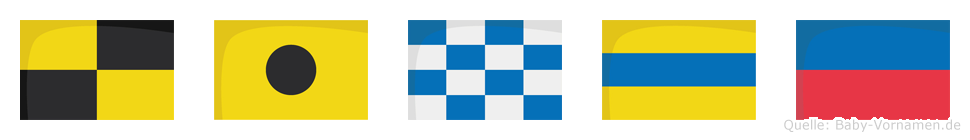 Linde im Flaggenalphabet