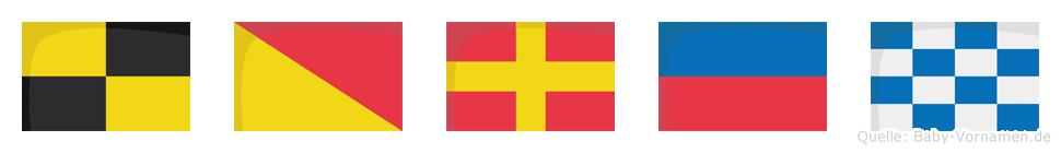 Loren im Flaggenalphabet