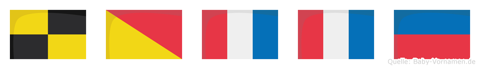 Lotte im Flaggenalphabet