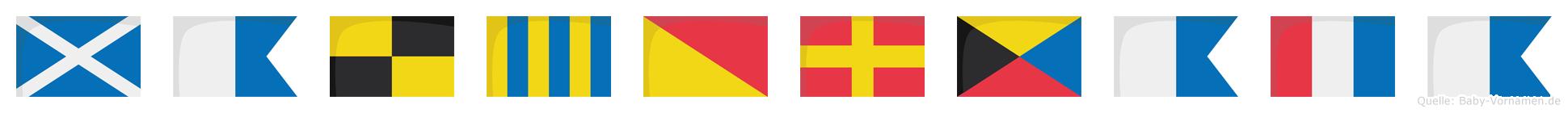 Malgorzata im Flaggenalphabet