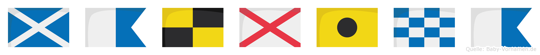 Malvina im Flaggenalphabet