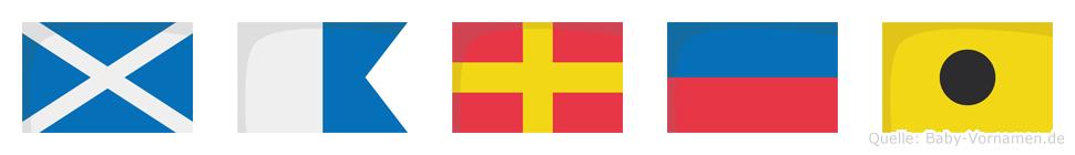 Marei im Flaggenalphabet