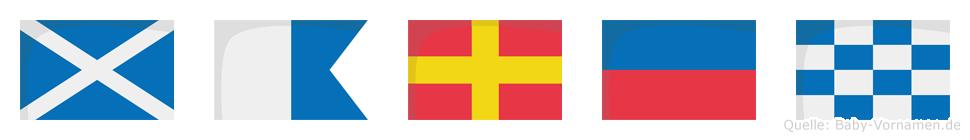 Maren im Flaggenalphabet