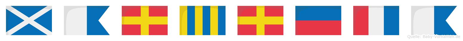 Margreta im Flaggenalphabet