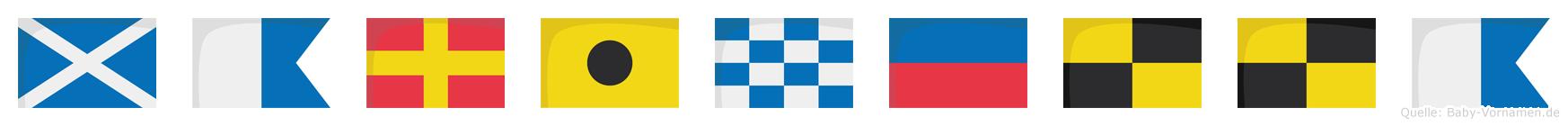 Marinella im Flaggenalphabet