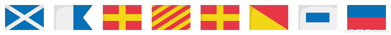 Maryrose im Flaggenalphabet