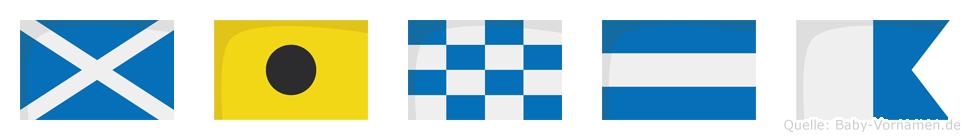 Minja im Flaggenalphabet