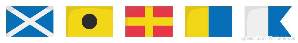 Mirka im Flaggenalphabet