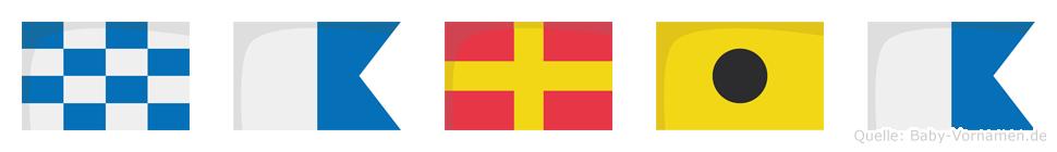 Naria im Flaggenalphabet