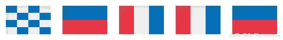 Nette im Flaggenalphabet