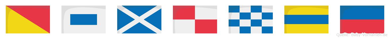 Osmunde im Flaggenalphabet