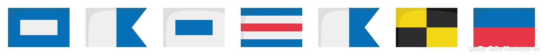 Pascale im Flaggenalphabet