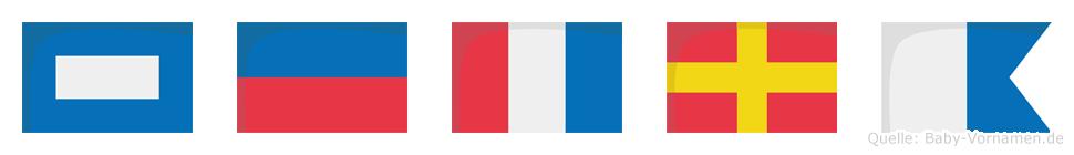 Petra im Flaggenalphabet
