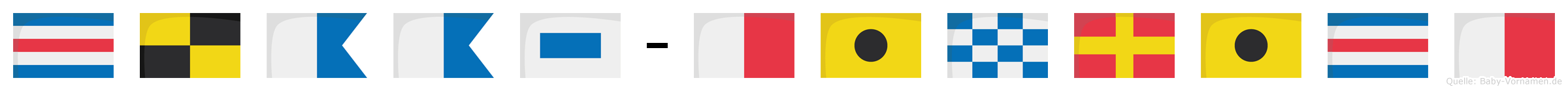 Claas-Hinrich im Flaggenalphabet