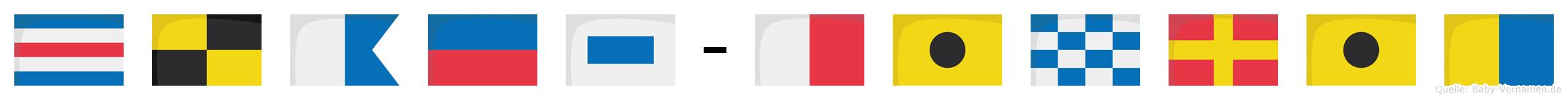 Claes-Hinrik im Flaggenalphabet