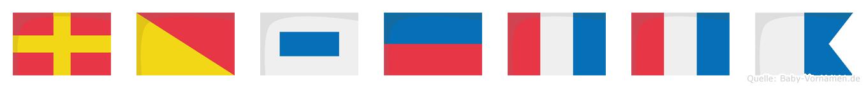 Rosetta im Flaggenalphabet