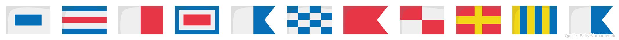 Schwanburga im Flaggenalphabet
